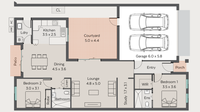 Norman 2 floor plan - click to expand