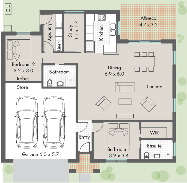 Parkes floor plan - click to expand